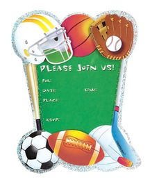 Wanna Party Game Day Jumbo Invitations - Set of 8