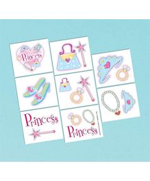 Wanna Party Tattoos Princess - Pack Of 16