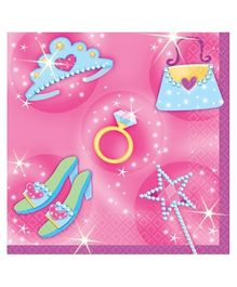 Wanna Party Princess Beverage Napkins - Set of 16