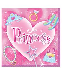 Wanna Party Princess Lunch Napkins - Set of 16