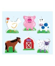 Wanna Party Cake Candles - Barnyard