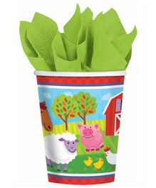 Wanna Party Barnyard Fun Paper Cups - Set of 8