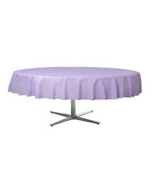 Wanna Party Lavender Plastic Round Table Cover