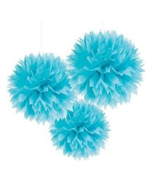 Wanna Party Fluffy Decoration Blue - 3 Pieces