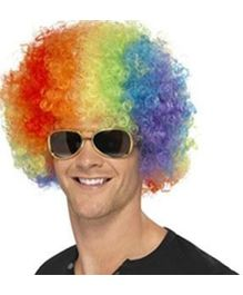 Wanna Party Afro Wigs - Multi Color