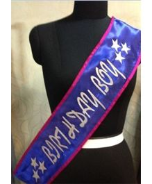 Wanna Party Birthday Sash