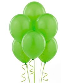 Wanna Party Green Latex Balloon - 20 Pieces