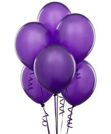 Wanna Party Purple Latex Balloon - 20 Pieces