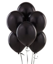 Wanna Party Black Latex Balloon - 20 Pieces