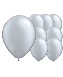 Wanna Party Silver Latex Balloon - 20 Pieces