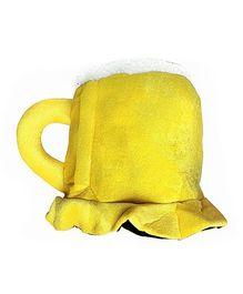 Wanna Party Beer Mug Hat - Yellow