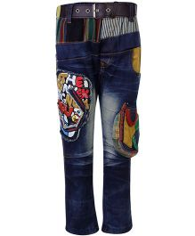 Noddy Jeans With Belt - Graphic Patch Detailing