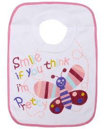 Mee Mee Colourful Baby Bib Pink - Butterfly
