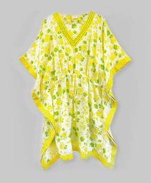 Bright Yellow Spring Flower Kaftan