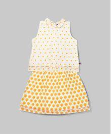 Corn Yellow Top and Skirt