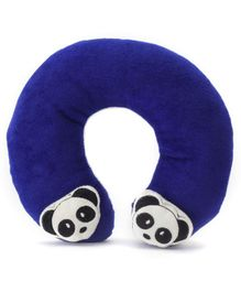 Babyhug Neck Supporter Pillow Navy With Two Motifs - Panda