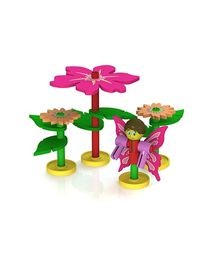 Waba Fun Superstructs Pinklets Fairy Garden - 108 Pieces