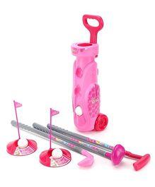 Funfactory Barbie Golf Set Trolley - Pink