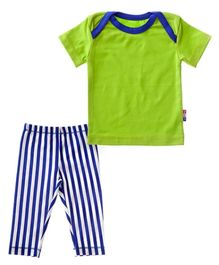 Claesens Half Sleeves T-Shirt And Pyjama Pant Set