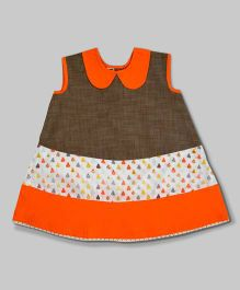 Orange and Brown Perfect Pear Dress
