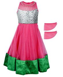 Doll Sleeveless Party Frock - Front Bodice