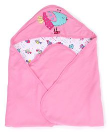 FS mini Klub Hooded Cotton Wrapper Bird Patch - Pink