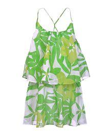 Lawn Green Layered Dress