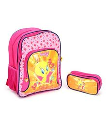 Tweety School Bag 16@DQ@ W/Pouch