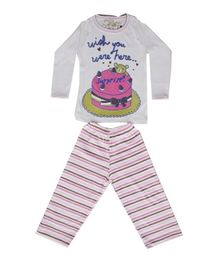 Earth Conscious Full Sleeve Night Suit - Cake Print