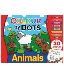 Alligator Books Colour by Dots Animals - Red