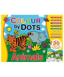 Alligator Books Colour by Dots Animals - Yellow