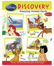 Euro Books Disney Discovery Amazing Animal Facts 4 In 1