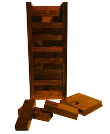 Desi Toys Wooden Kutub Tower - Brown