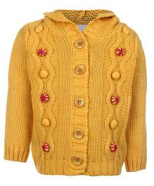 Wingsfield Hooded Cardigan Full Sleeve - Yellow