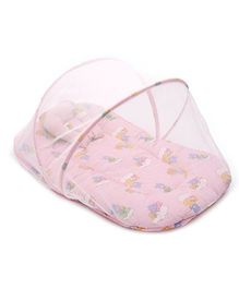 Sapphire Baby Bedding Set With Mosquito Net Teddy And Duck Print Medium - Pink