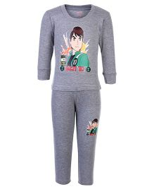 Bodycare Full Sleeves T-Shirt And Legging Set - Ben 10 Print