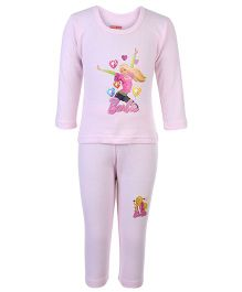 Bodycare Full Sleeves T-Shirt And Legging Set - Barbie Print