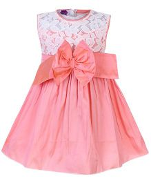 Cupcake Sleeveless Frock - Bow Applique