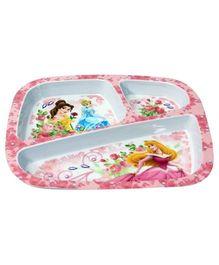 Three Section Plate - Disney Princess