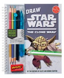Scholastic Coloring Book Draw Star Wars - The Clone Wars