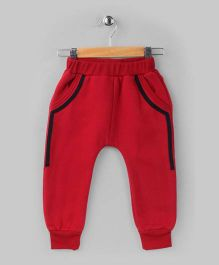Red Fleece Track Pant