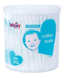 Tollyjoy Cotton Swabs Canister - 200 Sticks