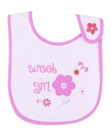 Sweet Girl Velcro Bib - Pink