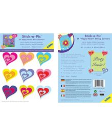 Fun To See Stick a Pic Hippy Heart Wall Stickers - 24 Pieces