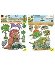 Fun To See Dinosaurs Wall Stickers - 12 Pieces