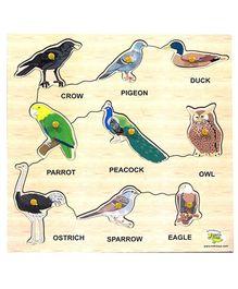 Dealbindaas Wooden Puzzle Birds - 9 Pieces