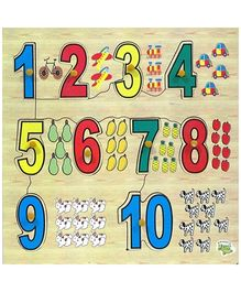 Dealbindaas Wooden Puzzle - Numbers