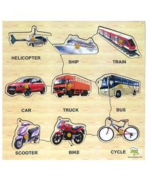 Dealbindaas Wooden Puzzle - Transport