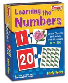 Smart Toy Puzzle Learning The Numbers - 21 Set of Two Piece