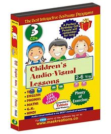 MAS Kreations Childrens Audio Visual Lessons - Pack of 3